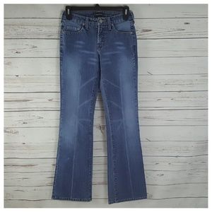 Bebe Boot Cut Jeans Med Blue Denim Wash Low-rise